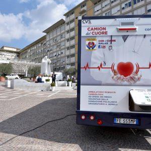 Inaugurazione del Camion del Cuore - Il Camion del Cuore al Policlinico Gemelli