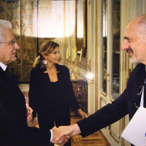 Prof. Massetti e il Presidente Mattarella